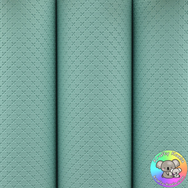 Aqua Quilted Leatherette