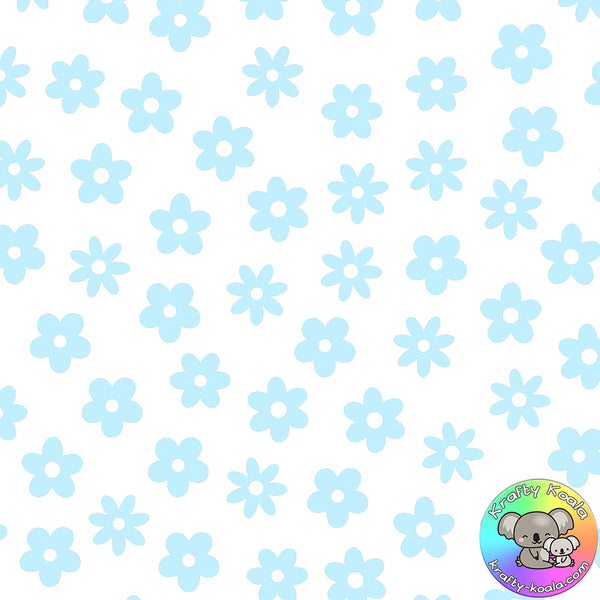 Baby Blue Flowers Fabric