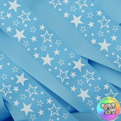 Baby Blue Stars Ribbon