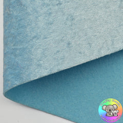Baby Blue Crushed Velvet Fabric