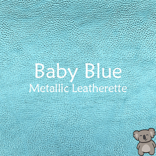 Baby Blue Metallic Leatherette