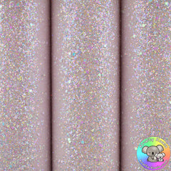Baby Pink Gemstones Chunky Glitter Fabric