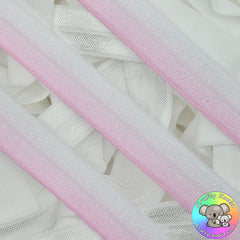 Baby Pink Ombre Fold Over Elastic