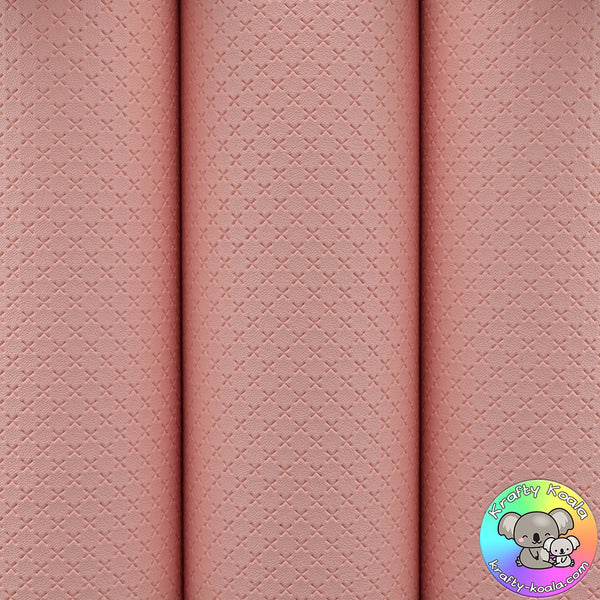 Baby Pink Quilted Leatherette