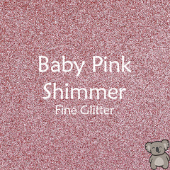 Baby Pink Shimmer Fine Glitter Fabric