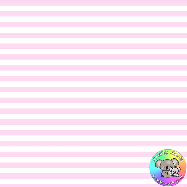Baby Pink Stripes Fabric