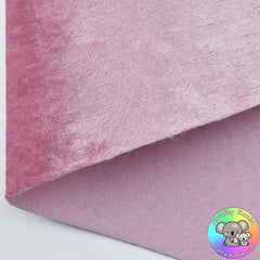 Baby Pink Crushed Velvet Fabric