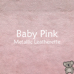 Baby Pink Metallic Leatherette