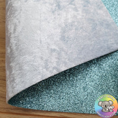 Baby Blue Crushed Velvet Double Sided Fabric