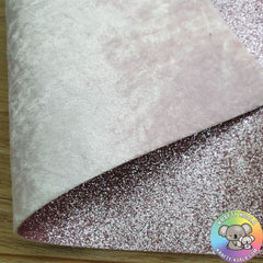 Baby Pink Crushed Velvet Double Sided Fabric