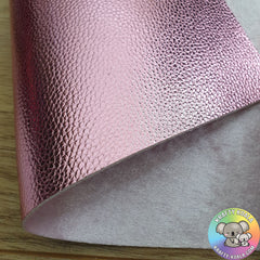 Baby Pink Metallic & Crushed Velvet Double Sided Fabric