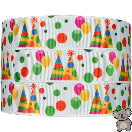 Birthday Party - Patterned Grosgrain Ribbon