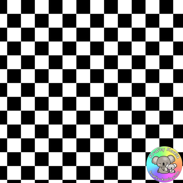 Black Checkerboard Fabric
