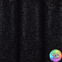 Black Ultra Chunky Glitter Fabric