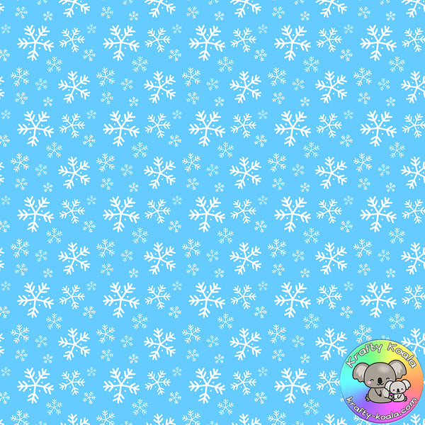 Blue Snowflakes Fabric