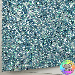 Blue & Silver Tinsel Fabric