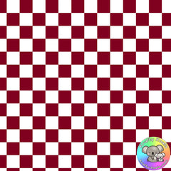 Burgundy Checkerboard Fabric
