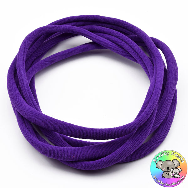 Dark Purple Nylon Headbands