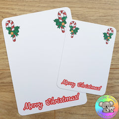 Christmas Candy Cane Display Cards