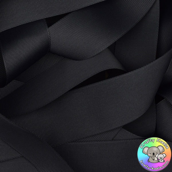 Charcoal Grosgrain Ribbon