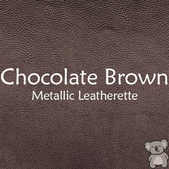 Chocolate Brown Metallic Leatherette