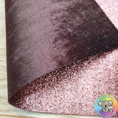 Chocolate Brown Crushed Velvet Double Sided Fabric