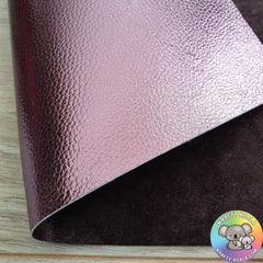 Chocolate Brown Metallic & Crushed Velvet Double Sided Fabric