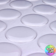 "1"" Clear Epoxy Domes"