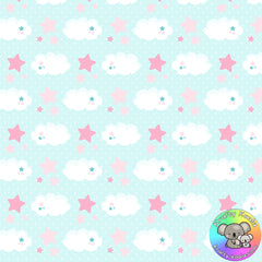 Clouds & Stars Fabric