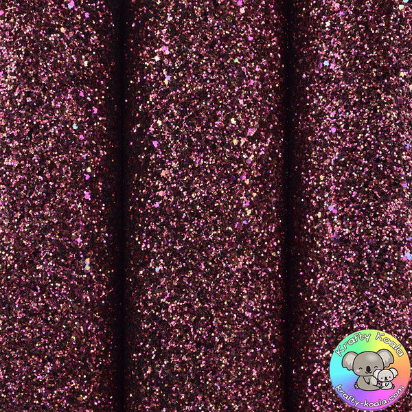 Cranberry Crush Ultra Chunky Glitter Fabric