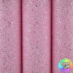 Crystal Pink Chunky Glitter Fabric