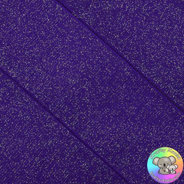 Dark Purple Glitter Grosgrain Ribbon