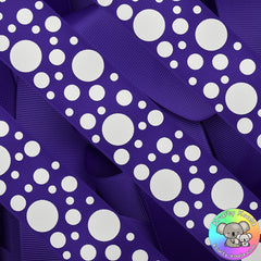 Dark Purple Spots Ribbon