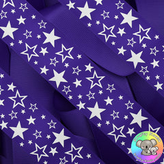 Dark Purple Stars Ribbon