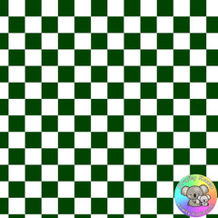 Forest Green Checkerboard Fabric