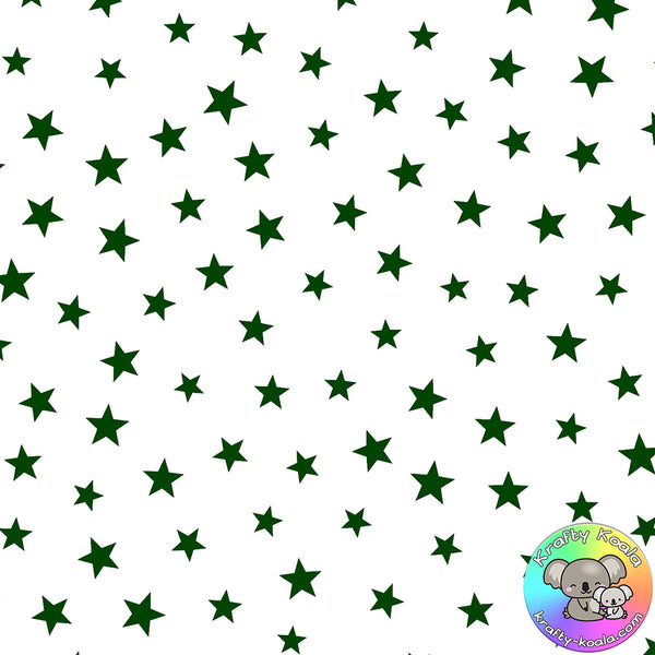 Forest Green Stars Fabric