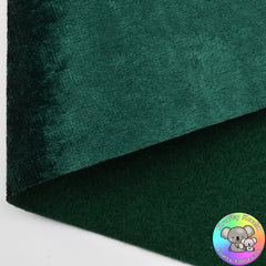 Forest Green Crushed Velvet Fabric