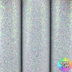 Frosted White Ultra Chunky Glitter Fabric