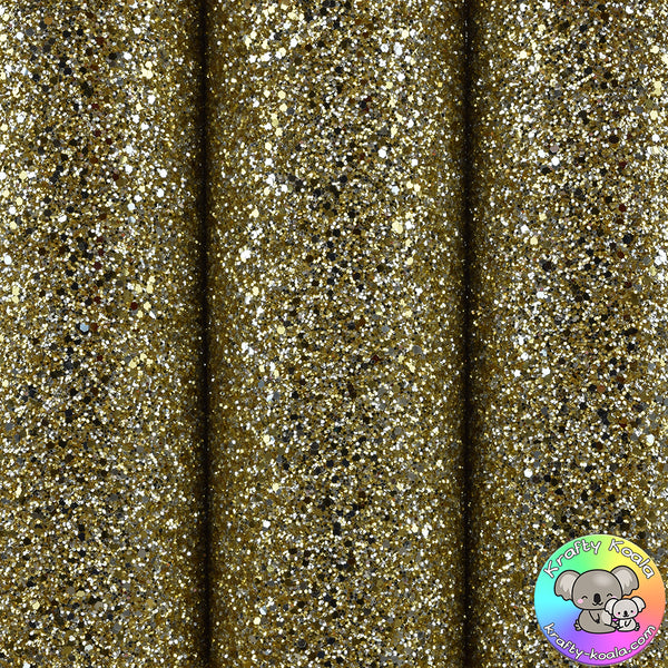 Gold Dust Ultra Chunky Glitter Fabric