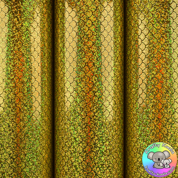 Gold Mermaid Vinyl Fabric