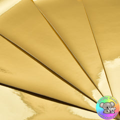 Gold Mirror Leatherette