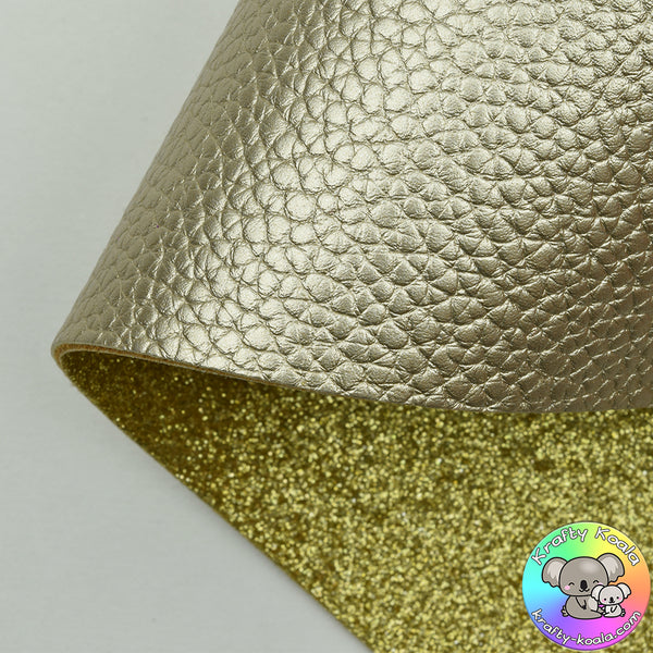 Gold Pearl Double Sided Fabric