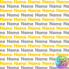 Gold & Silver Custom Name Fabric