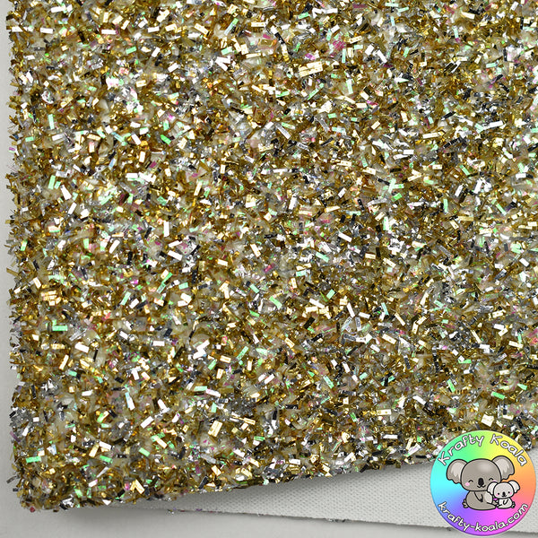 Gold & Silver Tinsel Fabric