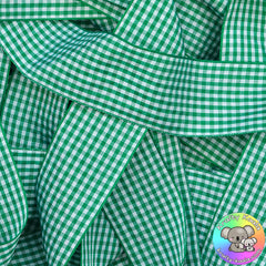 Green Gingham Plaid Ribbon