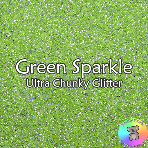 Green Sparkle Chunky Glitter Fabric