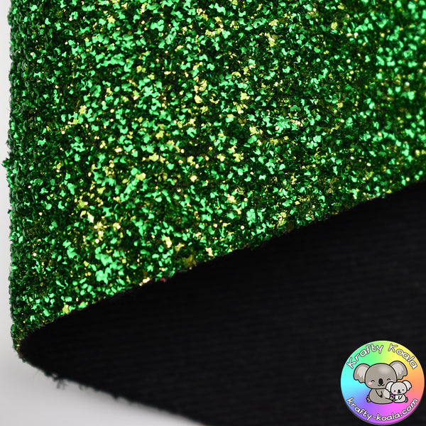 Green Curly Tinsel Fabric