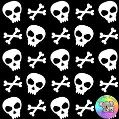 Halloween Skulls Fabric 1