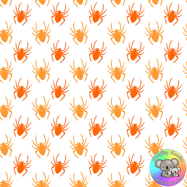 Halloween Spiders Fabric 2