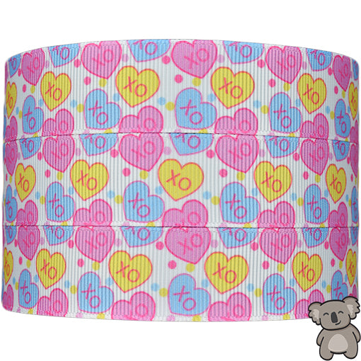 Hearts 4th Design - Patterned Grosgrain Ribbon